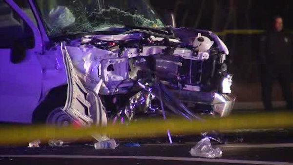 14 injured in Ocean County van, SUV collision