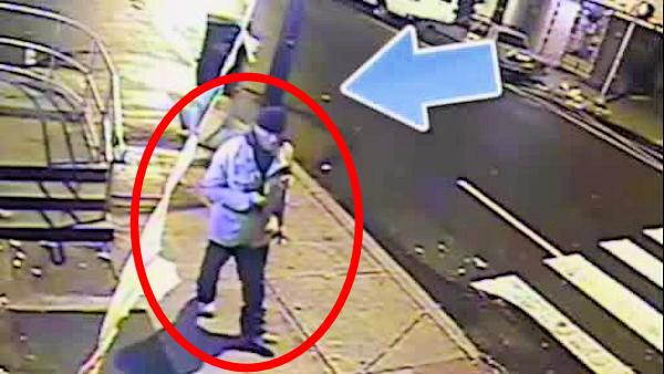 Surveillance of armed robbery suspect in Philadelphia