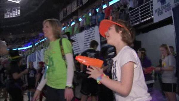 Recovering cancer patient celebrates at THON