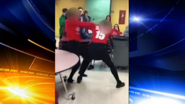 Raw video of Archbishop Ryan student fight