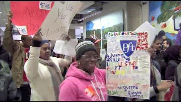 Protests continue over planned school closures