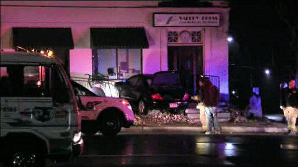 Car plows into Lower Merion business, 2 injured