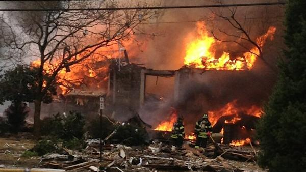 Fire, reported explosion in Haddon Heights