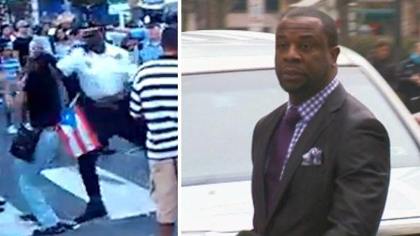Fmr. Phila. cop who punched woman not guilty