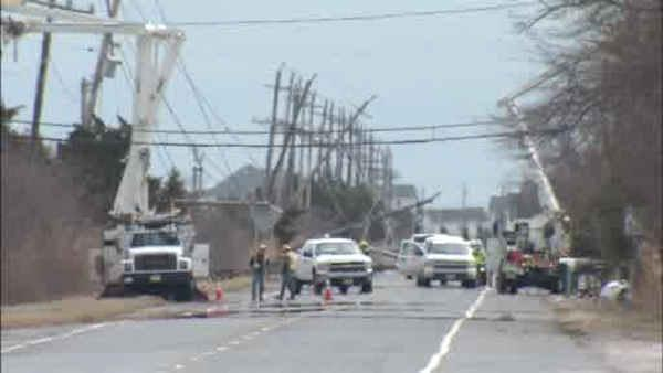 Shore communties clean up from coastal storm