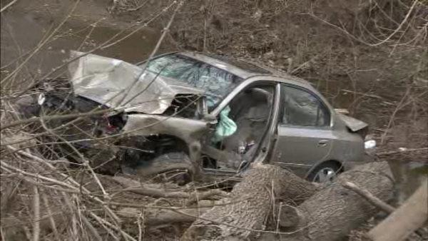 Car careens into creek in Falls Township; 1 dead
