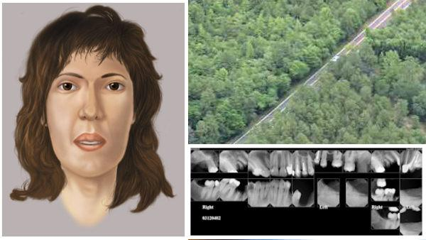 Sketch, x-rays of woman found dead in NJ