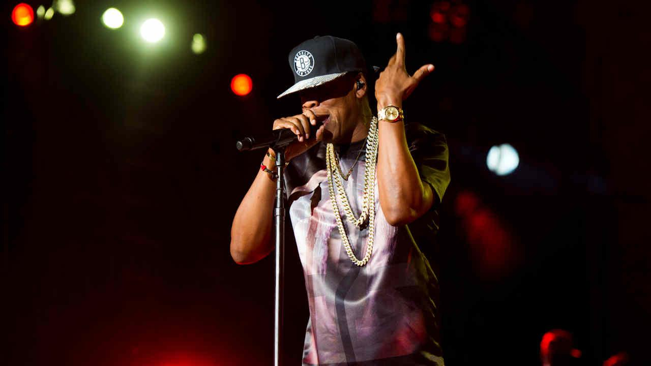 Jay-Z performs at the Made In America music festival on Saturday, Sept. 1, 2012, in Philadelphia, PA.