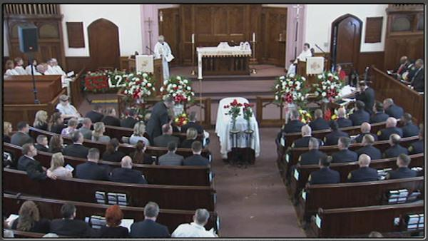 Funeral for firefighter Michael Goo