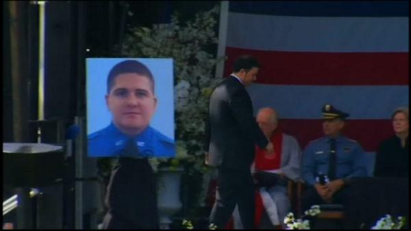 Memorial service for slain MIT police officer Sean Collier