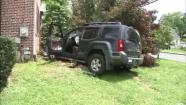 Tree stops SUV from slamming into home in Delaware
