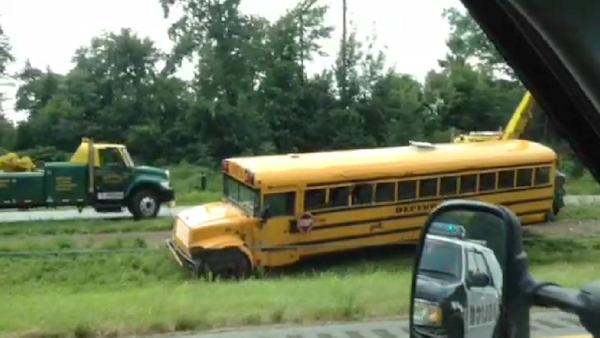 School bus crash in Langhorne, Pa.