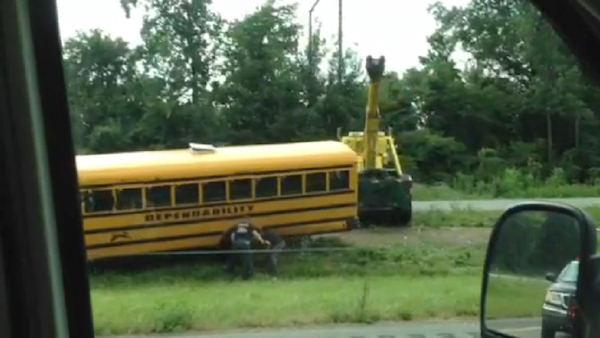 School bus crash in Langhorne, Pa