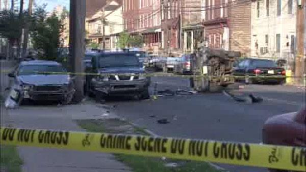 Trenton shooting and crash