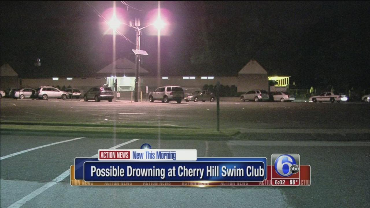 Water rescue at Cherry Hill swim club
