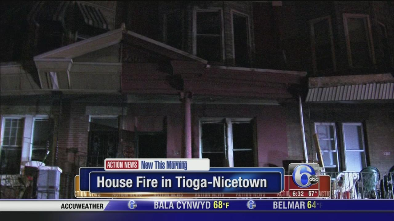 House fire injures 1, displaces 11 in Tioga-Nicetown