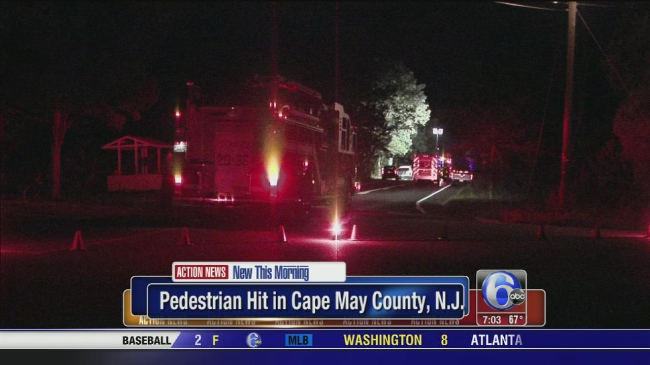 Pedestrian struck in Cape May County