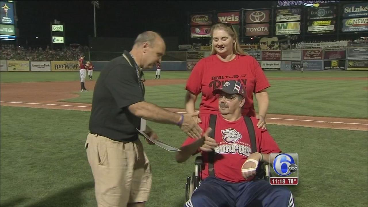Baseball team gives away funeral pkg.
