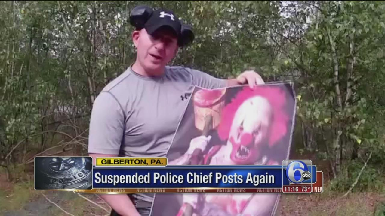 Suspended police chief posts another video