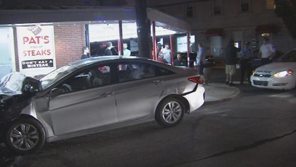 Driver flees after crash in front of Pat's