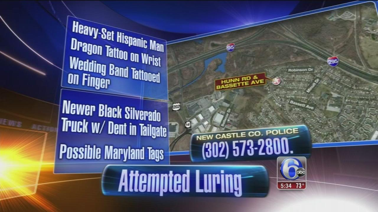Attempted luring at Wilmington Manor bus stop