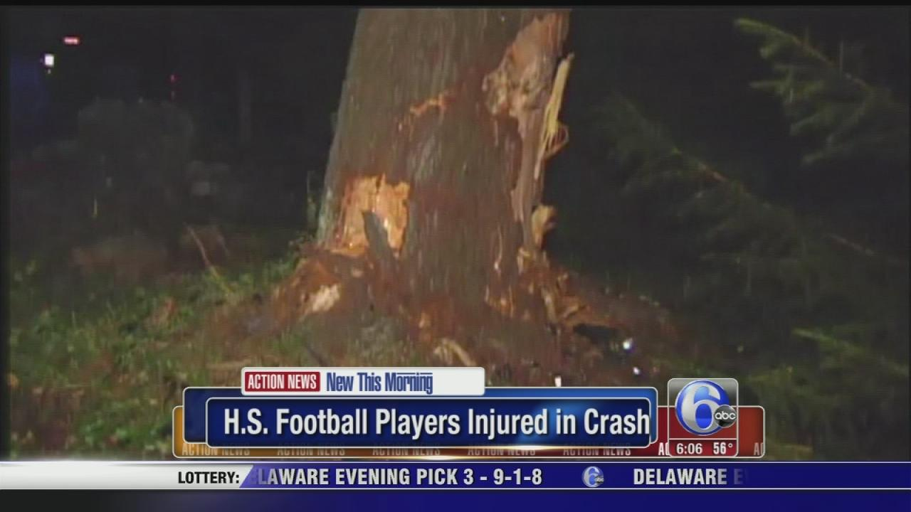 H.S. football players injured in crash