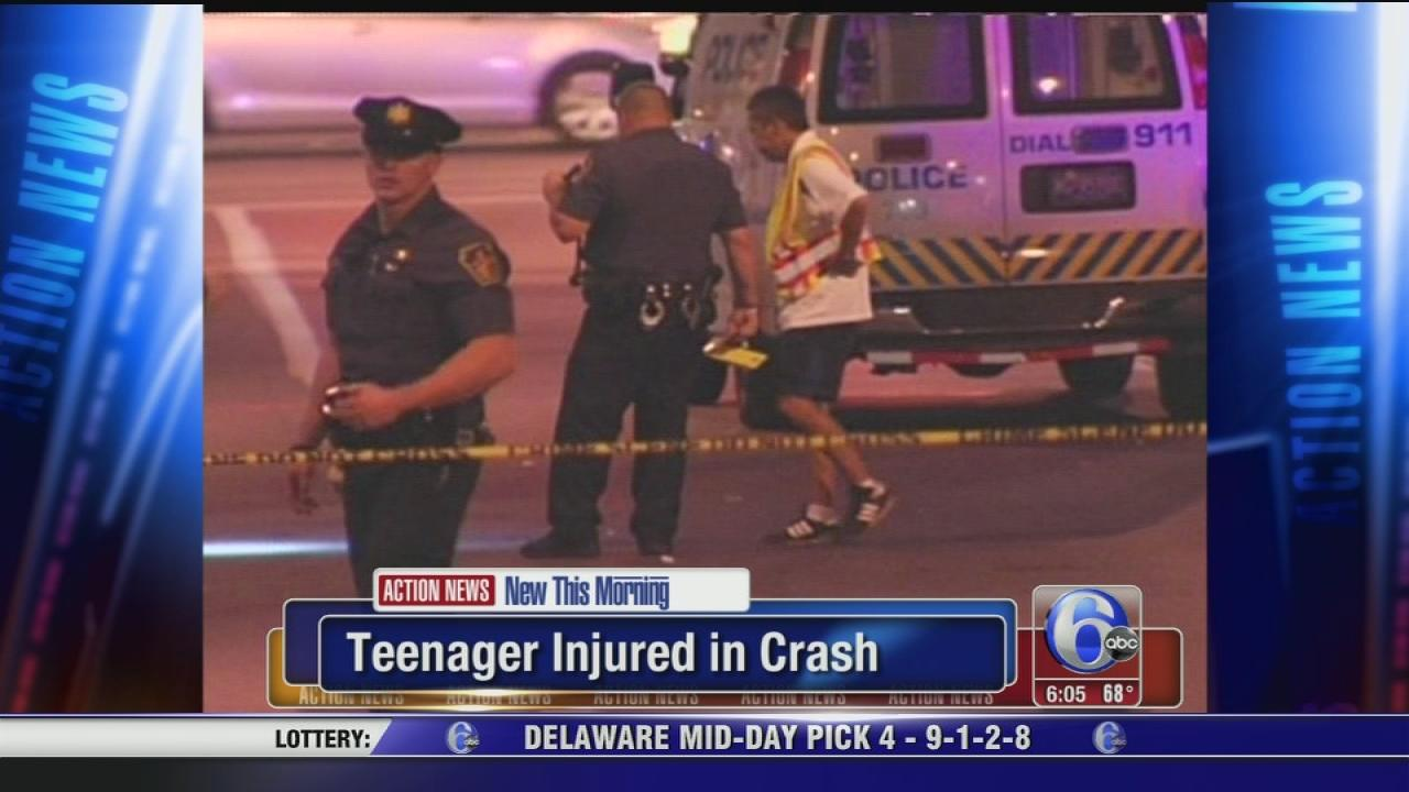 Teen struck by vehicle near bus stop
