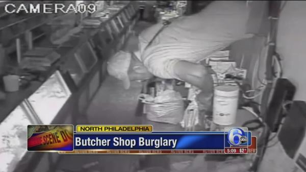 Butcher shop burglary caught on tape