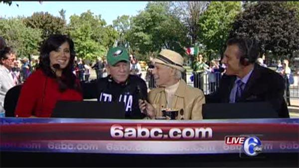Alicia co-hosts Columbus Day Parade