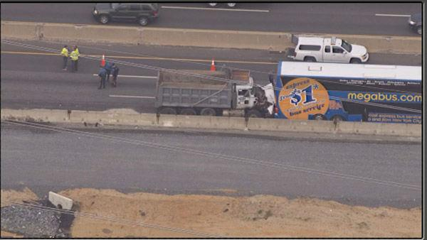 New Jersey Turnpike partially closed due to accident between