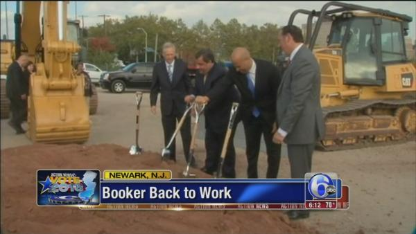 Cory Booker back to work after win