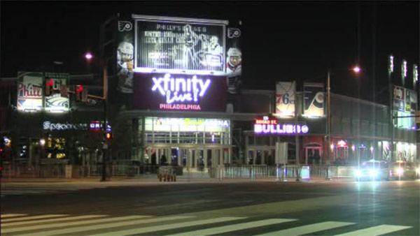 Brawl breaks out between 2 groups outside Xfinity Live