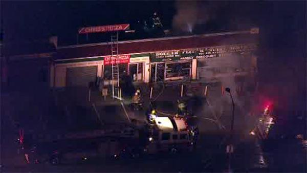 Fire rips through dollar store in Wynnefield Hts.