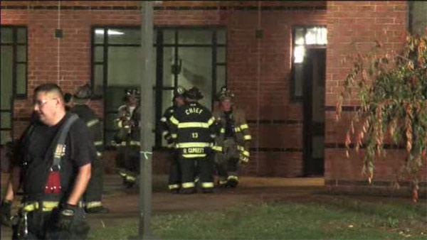 Fire damages high school in Bucks County