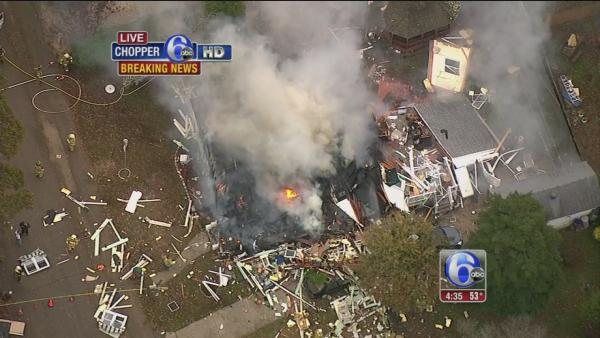 Explosion levels home in Lower Township, NJ