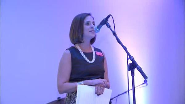 Amy emcees Raise a Glass for a Cure
