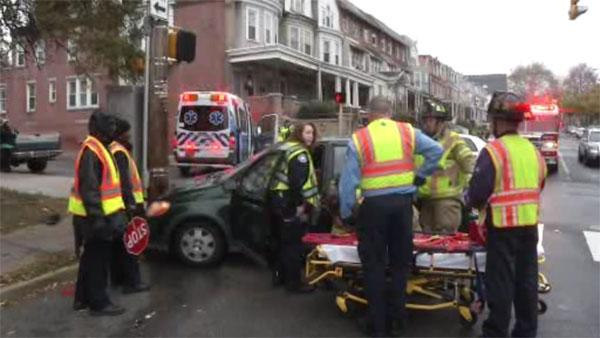 Ambulance strikes car in Wilmington