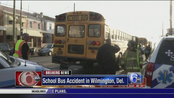 School bus accident in Wilmington, Del.