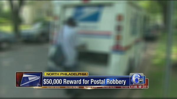 $50K reward for postal robbery