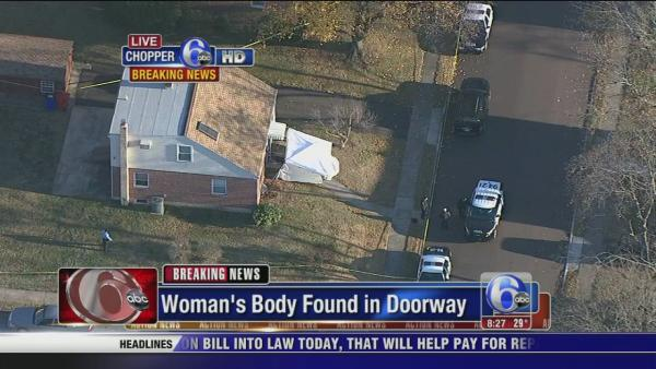 Woman's body found in doorway of Pottstown house