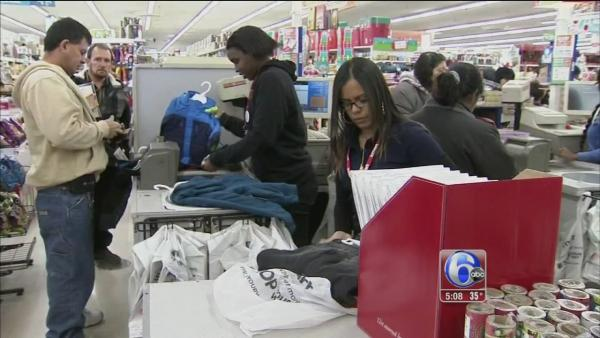 Thanksgiving Day shoppers hit the stores