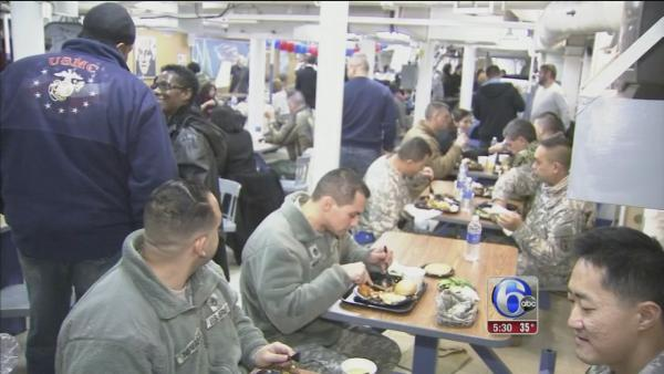 Thanksgiving feast onboard the Battleship New Jersey