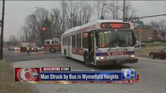 Man struck by SEPTA bus in Wynnefield Heights