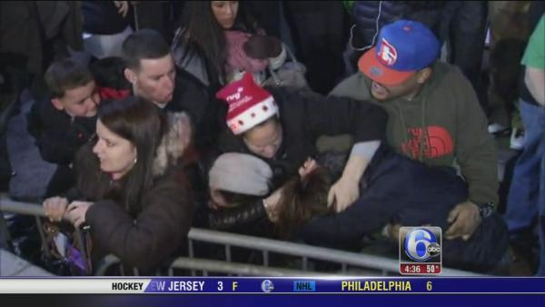 Fight erupts during Philly Christmas tree lighting