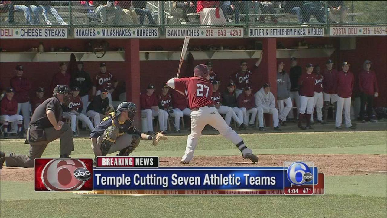 Temple University cuts 7 intercollegiate sports | 6abc.com