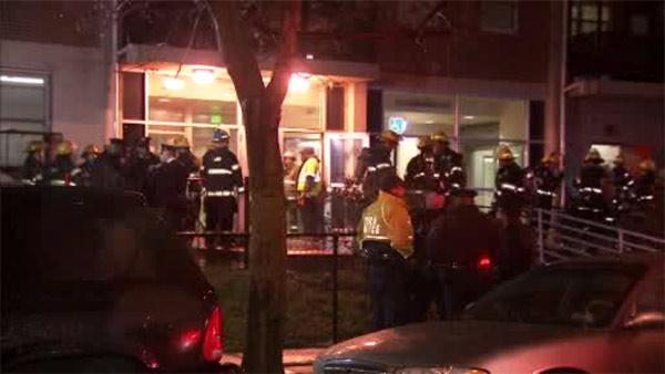 Residents displaced after high-rise fire