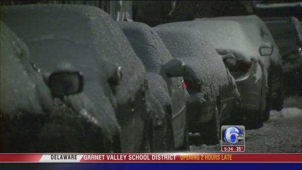 Katherine Scott reports on icy AM conditions