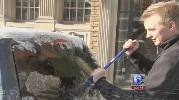 David Henry reports on ice in Doylestown