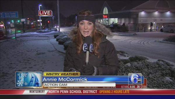 Annie McCormick on snow in Bensalem