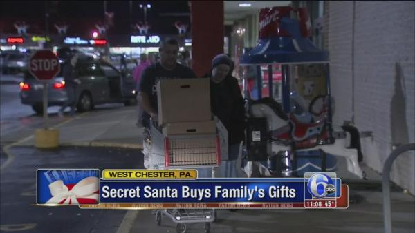 Secret Santa buys family's gifts